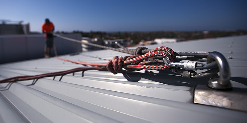 abseiling roof anchor point